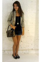 H&M blazer - Jo&MrJo bag - hollister shorts