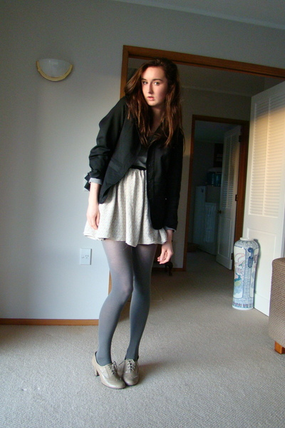 jacket - skirt - stockings - shoes