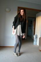 jacket - skirt - stockings - shoes