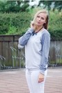 H&M jeans - next sweater - H&M sneakers - Lovelywholesale necklace