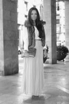 gold Zara bag - white Liberto shirt - light pink Zara skirt