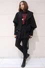 Black-vintage-boots-black-vintage-skirt-brick-red-zara-t-shirt