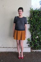 mustard Forever 21 from Buffalo Exchange skirt - navy Nordstrom Rack sweater