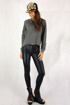 gray 2amstyles sweater - black 2amstyles pants