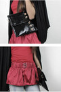 Red-silk-peplum-2amstyles-belt-black-leather-nails-2amstyles-purse