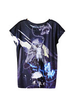 Galaxy Crown Angel Wings T-Shirt