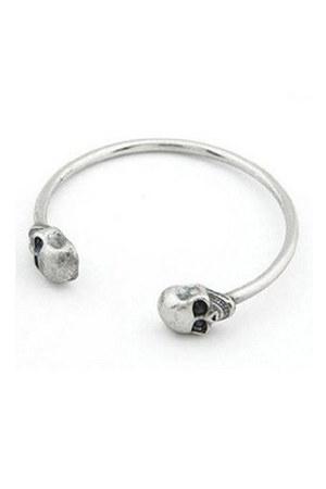 silver skull cuff 2amstyles bracelet