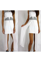 Semi Sheer Mesh Overlay Color Block Sleevesless Dress