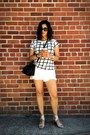 Black-dkny-bag-white-free-people-shorts-white-french-connection-t-shirt