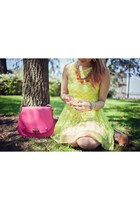 hot pink To Hello Beautiful bracelet - hot pink To Hello Beautiful bag