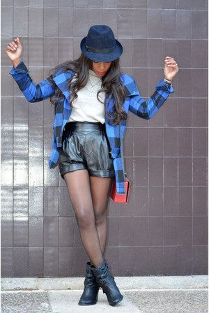 blue Topshop jacket - navy Zara hat