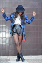 blue Topshop jacket - navy Zara hat