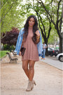 Beige-fama-boots-pink-diy-dress-sky-blue-pepe-jeans-jacket