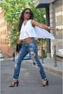 Sky-blue-zara-jeans-white-laura-montero-blouse-black-blanco-sandals