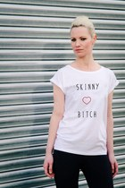 SKINNY BITCH WHITE T-SHIRT