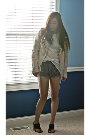 Zara jacket - evil twin shirt - One Teaspoon shorts - Celine sandals