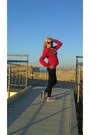 Black-zara-leggings-amethyst-converse-sneakers-red-h-m-hoodie-gucci-glasse
