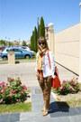 Camel-cuero-shoes-white-vaquera-jacket-orange-floral-scarf