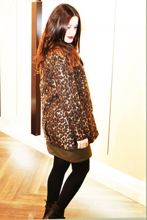dark brown animal print Elogy coat