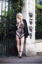 black Zara blazer - light pink Three Floor dress - black Kurt Geiger heels