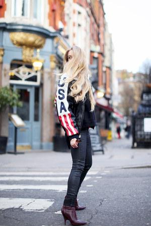 black GINA TRICOT jeans - maroon Alexander Wang boots