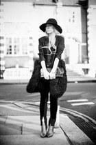 black Louise Amstrup coat - heather gray 31 Phillip Lim boots