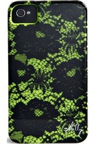MILLY SCALLOP LACE PRINT CASE FOR IPHONE 4/4S - CHARTREUSE