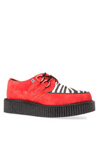 T.U.K. Low Sole Creeper in Red/Zebra