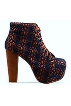 JEFFREY CAMPBELL LITA MAC ORANGE/NAVY