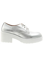 Jeffrey Campbell Daltrane Oxfords in Silver