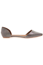 Jeffrey Campbell In Love d'Orsay Flats in Silver Hologram