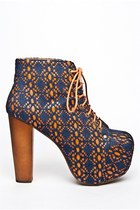 JEFFREY CAMPBELL LITA MAC - ORANGE/NAVY