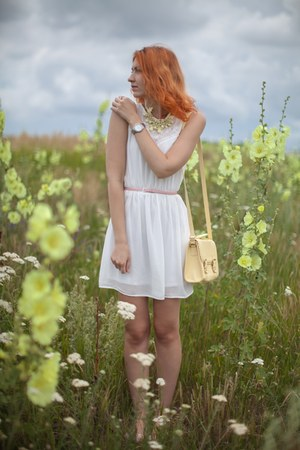 light yellow asos bag