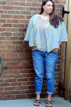 black Charlotte Russe flats - blue Old Navy jeans - ivory Forever 21 necklace