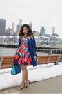 Navy-a-line-peter-pilotto-x-target-dress-blue-color-block-shoedazzle-bag