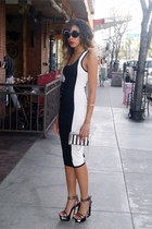 clear nastygal bracelet - midi dress 2bstores dress - clear Zara bag