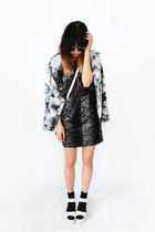 black Shop Akira dress - light blue tie-dye jacket