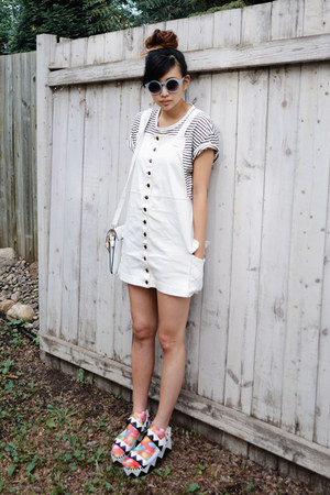 white style moca dress - carrot orange Nasty Gal socks
