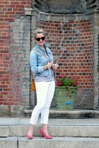 bubble gum asos pumps - white Gap jeans - light blue vintage jacket