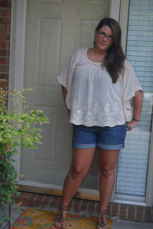 Forever 21 shirt - Old Navy shorts - Charlotte Russe sandals