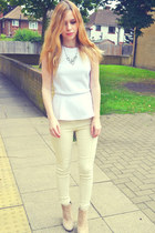 new look necklace - asos boots - Stylenanda pants - Glamorous top