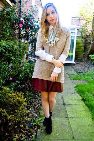 next boots - Ebay skirt - H&amp;M jumper