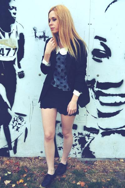 Ebay blouse - Seashells vintage blazer - Yesstyle shorts