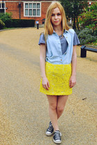 River Island skirt - Glamorous shirt - Converse sneakers