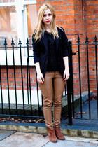Zara necklace - River Island boots - Ebay pants - Zara top