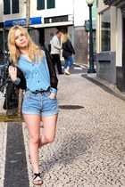 Sheinside shirt - Levis shorts - Topshop sandals