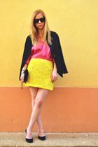 River Island skirt - vintage blouse - il passo heels