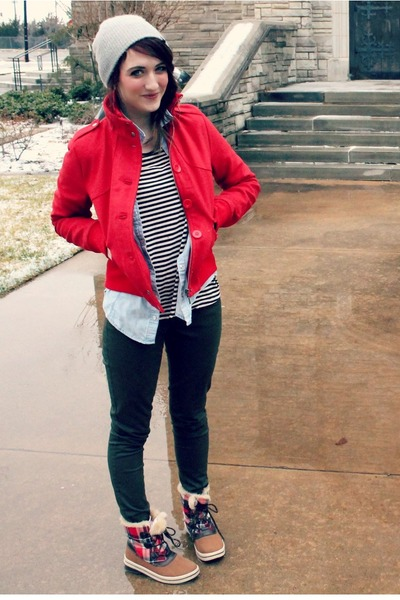 Sound & Matter coat - PacSun hat - Old Navy pants