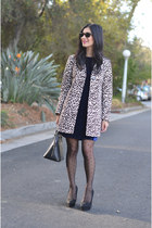 black Nordstrom tights - navy H&M dress - black Louis Vuitton bag