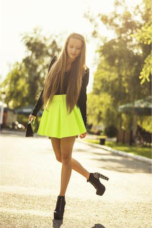cotton H&M jacket - Zealotries shoes - OASAP bag - cotton H&M top